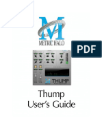 Thump Users Guide