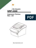 Manual Srp-350ii User Spanish Rev 1 03