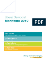 Liberal Democrat general election 2010 manifesto