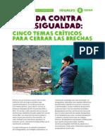 Agenda contra la desigualdad en Perú (OXFAM)