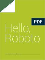 Roboto Specimen Book 20131031