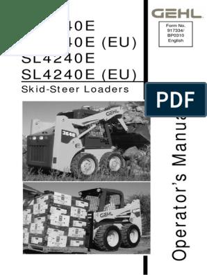 Operator's Manual GEHL - 3640e-3840e-4240e | Elevator | Throttle