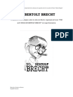 Yo, Bertolt Brecht Ultima Revisión