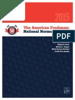 The American Freshman 2015