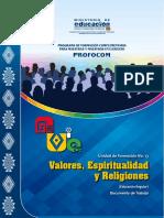 VALORES, ESPIRITUALIDAD Y RELIGIONES