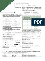 Evaluación Química inorgánica grado décimo