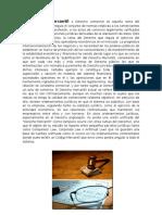Derecho Mercantil con imágenes y concepto.