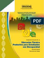 Educación Técnica Productiva para Estudiantes con Discapacidad