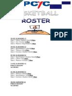 Pcyc Basketball Roster 2016