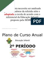Plano Anual de Educação Infantil 2 Pperiodo