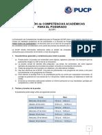 Evaluacion de Competencias Academicas 2016