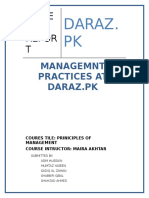 Management Practices at Daraz.pk