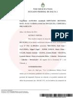 Amplían el procesamiento del juez Raúl Reynoso