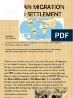 human migration and settlement powerpoint