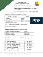 Tabela de Calculo de taxa CBMAC
