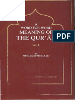 A Word For Word Meaning Ot The Quran-Part 1