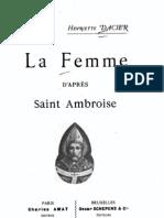 La femme selon St Ambroise