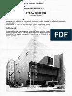 Subiecte Arhitectura Admitere 2012 Septembrie UAUIM