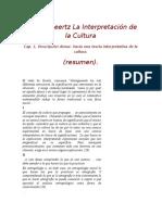 1 Clifford Geertz La Interpretación de La Cultura