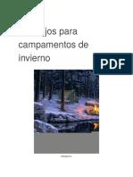 Consejos Para Campamentos de Invierno