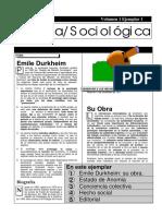 Página Sociológica Durkheim