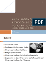 16. Legislación en La Reducción de NaCl en Los Alimentos