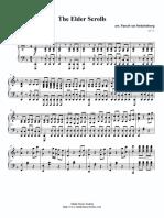 The Elder Scrolls IV (Piano sheet music)
