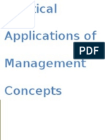 Practical Applications of management concepts