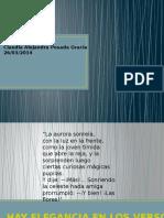 MV-U1- Actividad 1. Análisis Poético de Autumnal de Rubén Darío
