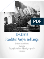 ENCE 4610 - Foundation Analysis and Design