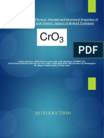 Physical, Thermal and Structural Properties of Chromium (VI) Oxide Powder-Impact of Biofield Treatment