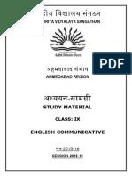 english communicative - study material class ix session 2015-16