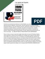 Electricista Urgente la capital de España