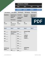 Armstrong Pullup Program Printable Tracker