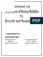 Human Relation Seminar
