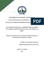 Proyecto Teca, exportación a la India