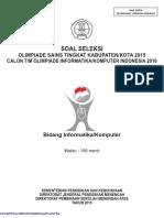Soal Osn Komputer Tingkat Kabupaten Kota Tahun 2015