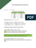 B1-B2 Lokale Ergänzungen Mit Wechselpräpositionen Und Positionsverben