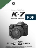 Pentax K7 - Manuale Italiano