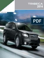 Subaru Tribeca Brochures- 2014 Tribeca Brochure