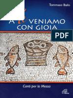 A Te Veniamo Con Gioia - Tommaso Bailo - Canti Per La Messa - Ed Paoline 2009
