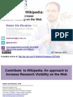 Contribute  to Wikipedia