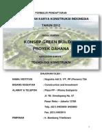 Konsep Green Building Proyek Dahana