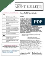 ES Parent Bulletin Vol#12 2016 February 12