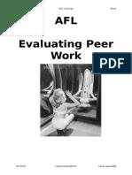 Evaluating Peer Feedback