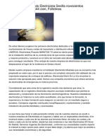 Instalador Autorizado Electricista Sevilla novecientos cincuenta y cinco 544 cien, Folletines
