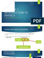 1.3 Scalar and Vector Quantities