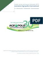 Compte Rendu Technique Activités 2015 d'Agropolis International