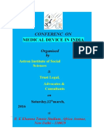 Conferenc on Medical Device in India Poster