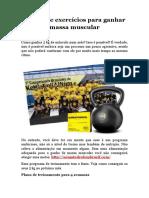 Rotina de exercícios para ganhar massa muscular